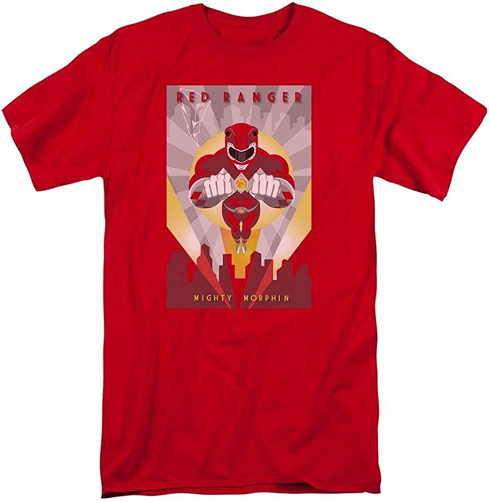 Power Rangers Red Deco Adult Tall Fit T-Shirt
