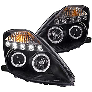 Spec-D Tuning 2LHP-350Z03JM-TM Black Projector Headlight Housing