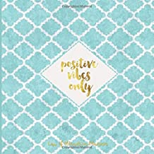 POSITIVE VIBES ONLY Law of attraction planner: Vision Board book & Goal Getter – Red & Gold Large Activity Book (200 pages 8.5 x 8.5) Productivity Journal