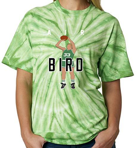 TIE-DYE Green Boston Bird Air Pic T-Shirt Adult