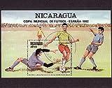 FGNDGEQN Sellos Nicaragua 1982 Copa Mundial de España sello pequeño sello ha sido sellado