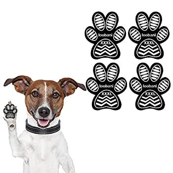 LOOBANI Dog Grip Pad Paw Protector Anti-Slip Traction Pads from Slipping on Hardwood Floors Protection for Injuries and Brace for Weak Paws 6 Sets 24 Pads-XXXL