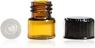 1/4 Dram Amber Glass Vial - Phenolic Screw Cap w/Orifice Reducer - Pack of 144