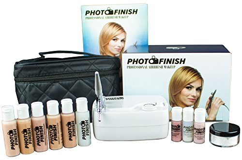 Photo Finish Professional Airbrush Cosmetic Makeup System Kit / Fair to Medium Shades 5pc Foundation...