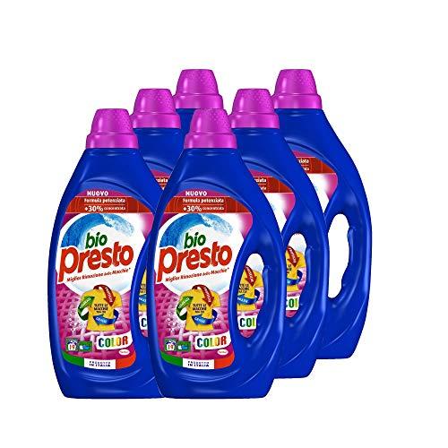 Bio Presto Liquido Color Detersivo Lavatrice per Capi Colorati, 6 x 19 Lavaggi