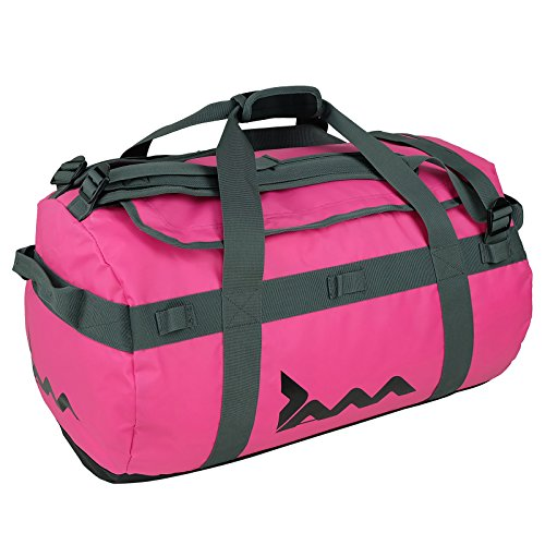 Pink 85 Litre Cargo Duffle Bag Waterproof Holdall Sports Gym Travel Luggage