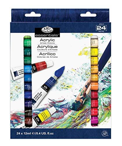 Royal & Langnickel - Pintura acrílica (12 ml, 24 unidades), multicolor