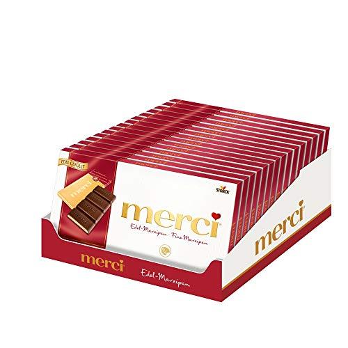 merci Edel-Marzipan (15 x 112g) / Tafelschokolade mit 4 kleinen, feinen Täfelchen