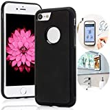 Anti Gravity Phone Case for iPhone SE 2020/ iPhone 8/ iPhone 7/6/6s, Magic Nano Suction Sticky Black Anti Gravity case for iPhone 6/6s/7/8/SE 2 Selfie Stick on Smooth Surface Cover