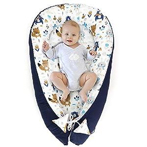Nido para Bebe – Reductor de Cuna Nido Bebe Recien Nacido algodón con Certificado Oeko-Tex (1. Diseño de ratón, 90 x 50…