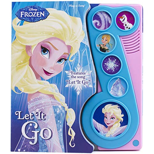 Disney Frozen Elsa, Anna, Olaf, and More! - Let It Go Little Music Note Sound Book - PI Kids...