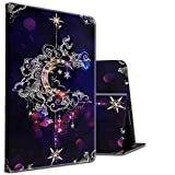 Case for Amazon Kindle 10th Gen 2019 Moon Star Galaxy Floral Pattern with A Cute Turtle Sticker Lightweight Shockproof Protective Cover for All-New Kindle 10th Generation 2019