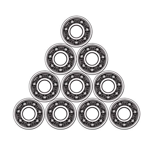 Antrader 10Pcs 608 Steel Ball Bearing 8mm x 22mm x 7mm High Precision Rating Fidget Spinner Bearing