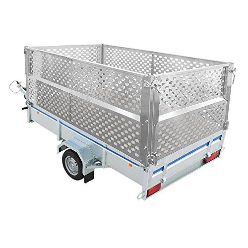 ProPlus Anhänger Gitteraufsatz 2075x1140x660 mm Aluminium Bordwand Laubgitter