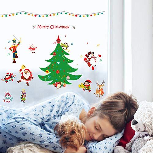 Wandaufkleber Glasaufkleber Weihnachtsanmerkungen Weihnachtsshop Fenster Glastüren Und Fenster Wohnzimmer Dekoration Aufkleber Aufkleber 136 * 79Cm
