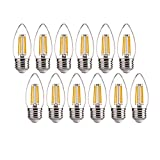 ALAMPEVER Dimmable 12-Pack B11 Candelabra LED Light Bulb,4.5W (60W Equivlant) LED Chandelier Light Bulb,E26 Standard Base,2700K Soft White,450LM,CRI80