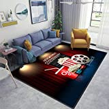 Home Area Runner Rug Pad Cinema Movie Theater Object on Curtain ;Sign...