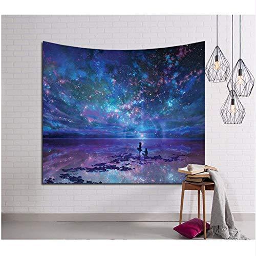 Djkaa Strandmat om op te hangen, 3D Galaxy, wandtapijt, hippie tapijt, retro, Home Yoga 230x150cm