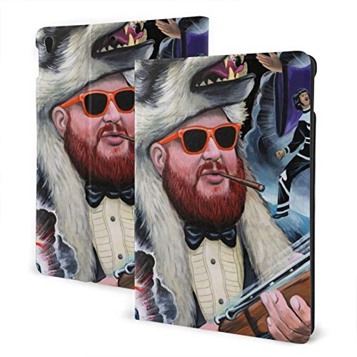 Jamesmall Action Bronson Ultra-Thin Shell Leather Protective Cover,Suitable for Ipad 7th 10.2 Inches/Ipad Air 3 and Pro10.5 Inches Multi-Angle Split Vertical Protective Cover Auto Sleep/Wake Up TPU