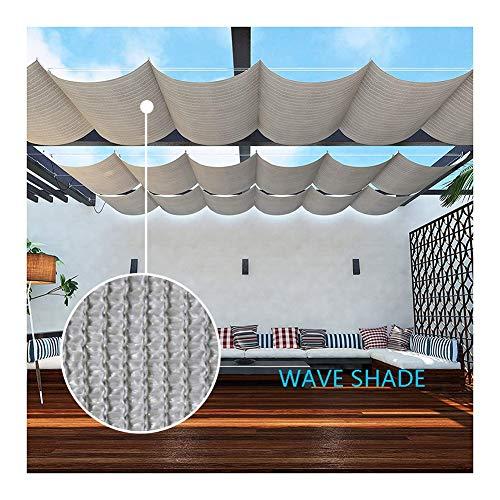 GDMING Schattensegel Einziehbar Welle Startseite 95% Sonnenschutz Wasser & Luft Durchlässig Baldachin Markise Zum Terrasse Hof Pergola Schwimmbad Polyester 230GSM, Anpassbar