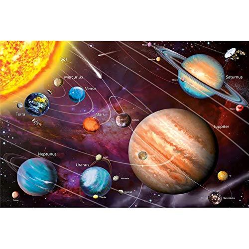 Puzzle Otto Pianeti 300/500/1000/1500/2000 Pezzi Adulti Sistema Solare Bambini Giocattoli Educativi Regalo della Decorazione 0702 (Color : A, Size : 500 Pieces)