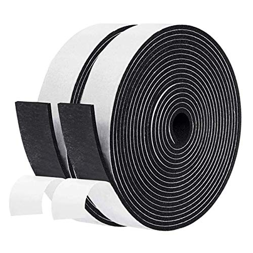 fowong Window Insulation Foam Strip 2 Rolls, 1