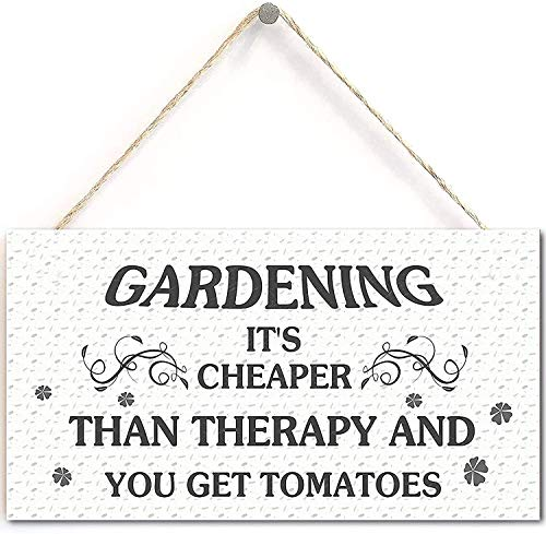 Price comparison product image vogue Goose Funny Garden Sign- Gardening It's Cheaper Than Therapy and You Get Tomatos
