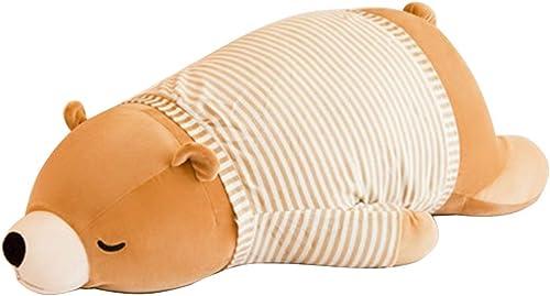 Almohadas decorativas Aniñales de Peluche Peluches Almohada niña Almohada de Oficina Juguete de Peluche Grande Regaño de muñeca Infantil (Color   marrón, Talla   110cm)