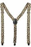 Adult Leopard Design Elastic Y-Shape Suspender