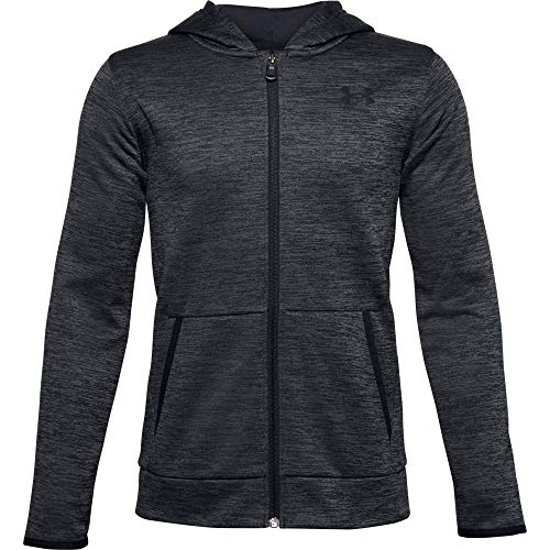 Under Armour Boys' Armour Fleece Full Zip , Black (002)/Black , Youth X-Large