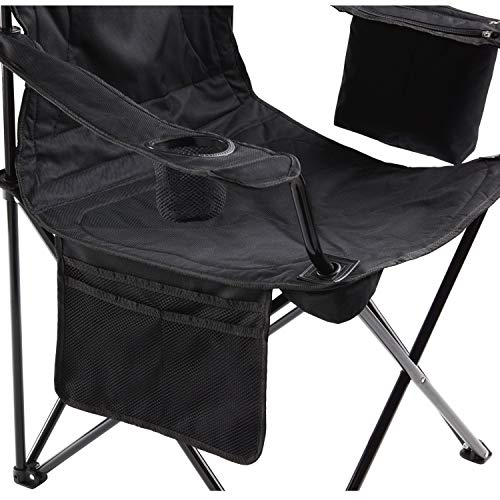 51Xf2DrAufL - Coleman Camping Chair with 4 Can Cooler | Chair with Built In 4 Can Cooler, Black