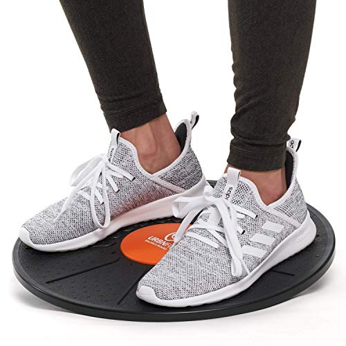 URBNFit Standing Desk Balance Board – Balancing Board for Under Desk Exercise Balance Stability Trainer Helps Increase Strength and Flexibility Full Body Exercise  Office Wobble Boards – 15 Inch