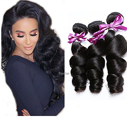 Brazilian Virgin Hair Bundles Loose Wave Human Hair Extensions 8A 100% Human Hair Bundles Loose Wave Bundles Unprocessed Virgin Curly Wave Hair Bundles 12 14 16