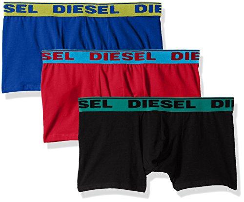 Boxer Costume Da Uomo Di Diesel 3-pack Contrasto Cintura, Nero/rosso/blu X-large