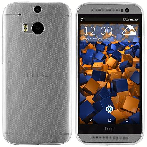 mumbi Hülle kompatibel mit HTC One M8 / M8s Handy Hülle Handyhülle dünn, transparent