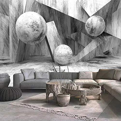Papel tapiz fotográfico personalizado 3D bola tridimensional piedra cemento pintura de pared sala de estar sofá TV Fondo mural decorativo 350x250cm
