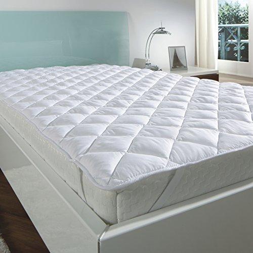 7dreams® Matratzenauflage Mikrofaser Soft-Topper Unterbett mit spezieller Klimafaser Füllung - Öko-Tex Siegel- Matratzenschoner auf für Boxspring- und Wasserbetten - verschieden Größen - (140x200 cm)