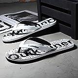 Chanclas de verano, pies de clip de playa, sandalias antideslizantes al aire libre y zapatillas-macho_40_8913 blanco