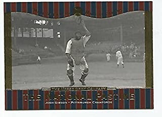 Josh Gibson baseball card (Homestead Grays Negro League) 2001 Upper Deck #64