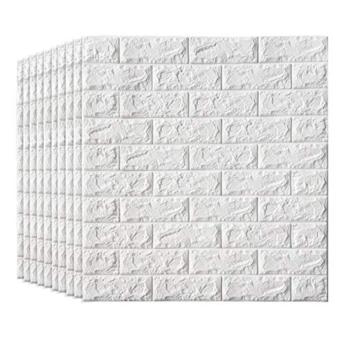 KUNYI 3D-Self-Adhesive Wandpaneele Faux-Schaum Bricks Tapete for TV Wand/Sofa Hintergrund Wand-Dekor (Size : 10 Pack)