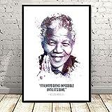 tgbhujk Poster Nelson Mandela Great Leader Star Kunst
