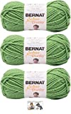 Bernat Softee Chunky Yarn Bundle Super Bulky Number 6 Gauge, 3 Skeins (Limelight)