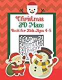Christmas 3D Maze Book for Kids Ages 4-8:: A Unique Christmas Maze Puzzles Games Book for Kids | A Great Christmas gift Mazes Workbook
