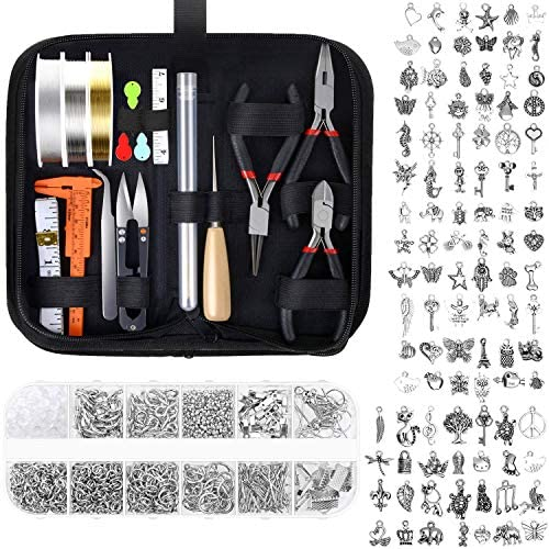 Jewelry Making Kit Audab Jewelry Making Supplies Jewelry Tools Kit Wire Wrapping Kit with Jewelry product image