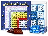 """DA CHOCOLATE キャンディ スーベニア """"九九"""" MULTIPLICATION TABLE チョコレートセット 5×5一箱 (Blue)"""