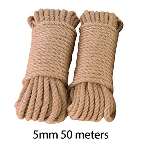 MYYXGS Cuerda De Yute, 10 M / 33 Pies Cuerda De Yute Natural Cuerda De Sisal Retorcida para Reemplazar El Gato Rascador De áRboles Gato De Juguete Marco De Escalada Cuerda Atada