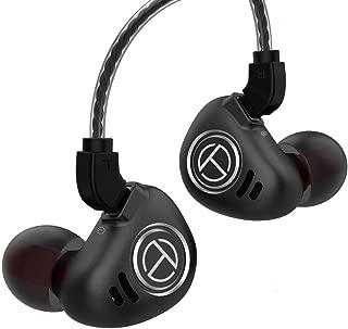 TRN V90 in Ear Earphone, HiFi Earphone 1 DD+4 BA 5 Drivers Stereo Bass IEM, in Ear Headphone with Aerospace-grade Aluminum Steel Faceplate, in Ear Monitor with Detachable 2 Pin Cable (Black No Mic)