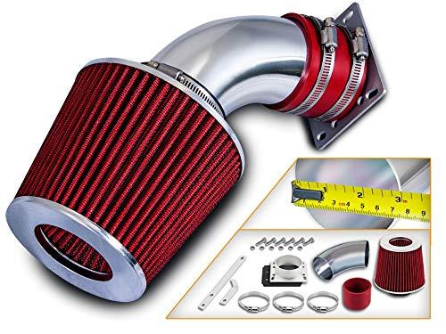 Rtunes Racing Short Ram Air Intake Kit + Filter Combo RED Compatible For 98-01 Ford Ranger / 98-01 Mazda B3000 3.0L V6