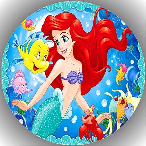 Fondant Tortenaufleger Tortenbild Geburtstag Arielle die Meerjungfrau AMA15