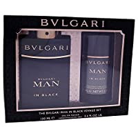 ブルガリ In Black Coffret: Eau De Parfum Spray 100ml/3.4oz + Deodorant Stick 75ml/2.7oz 2pcs並行輸入品